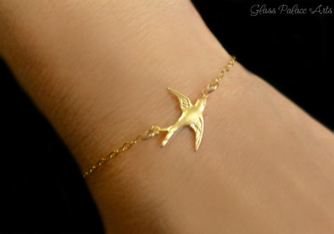 Small Bird Bracelet - Sweet and Dainty Jewelry Makes For the Perfect Gift