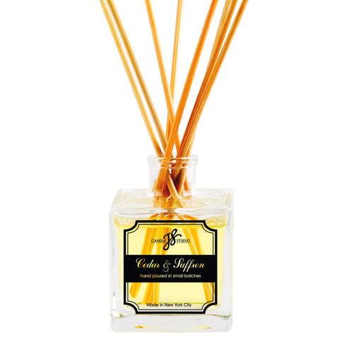 Cedar & Saffron Reed Diffuser - JS Candle Studio - Candles & Home Fragrance