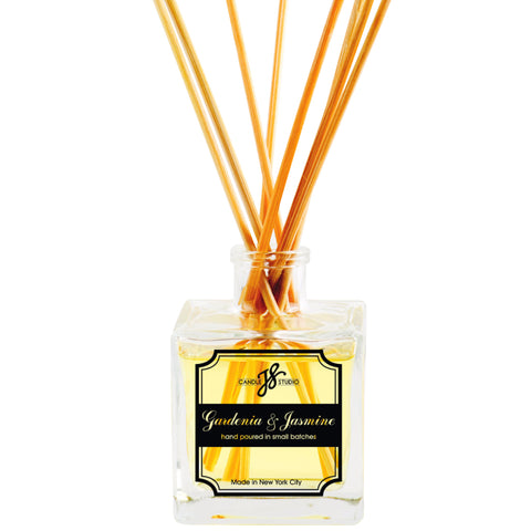 Gardenia & Jasmine Reed Diffuser - JS Candle Studio - Candles & Home Fragrance