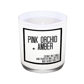 Pink Orchid + Amber Candle - JS Candle Studio
