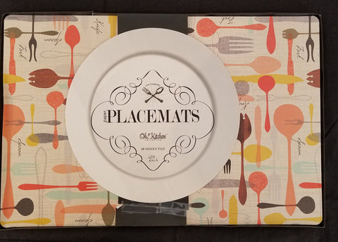 Retro Design with Spoons -Paper Placemat