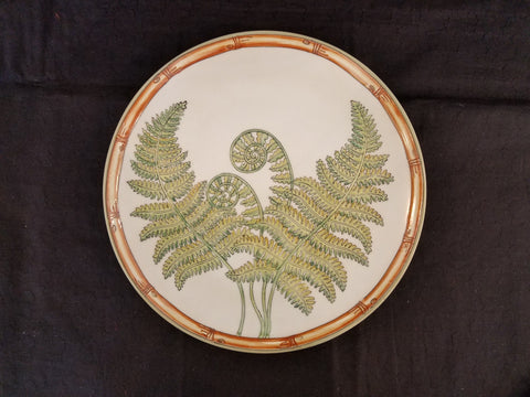 New Vintage Decorative Porcelain Fern Collection Plates by Siddhia Hutchinson