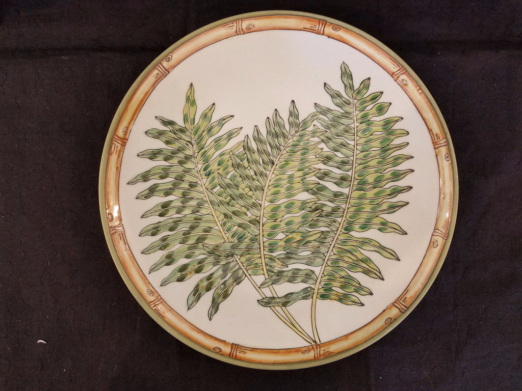 60183f6172 New Vintage Decorative Porcelain Fern Collection Plates by Siddhia  Hutchinson