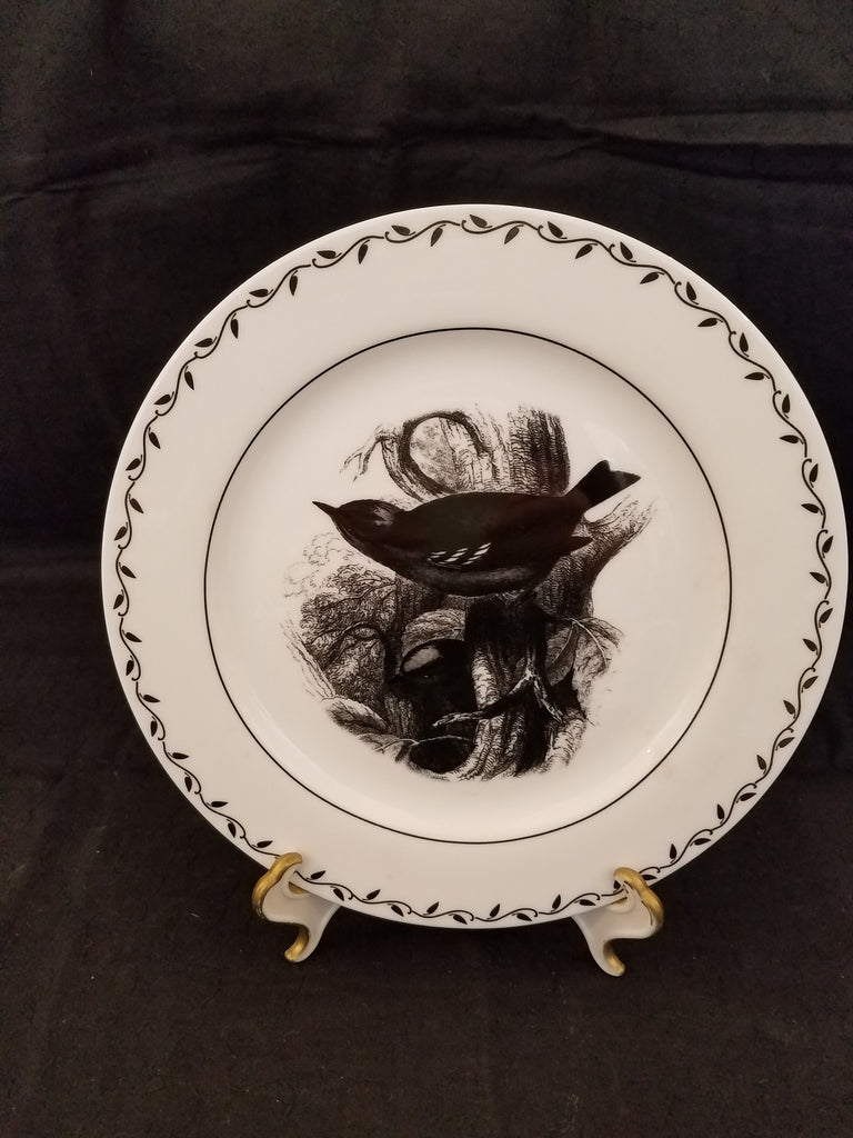 Black and White Bird Dishes