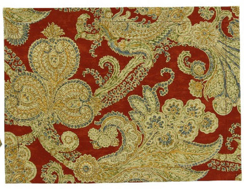 Karen Ballard's Grand Tour pattern in Rust Paisley