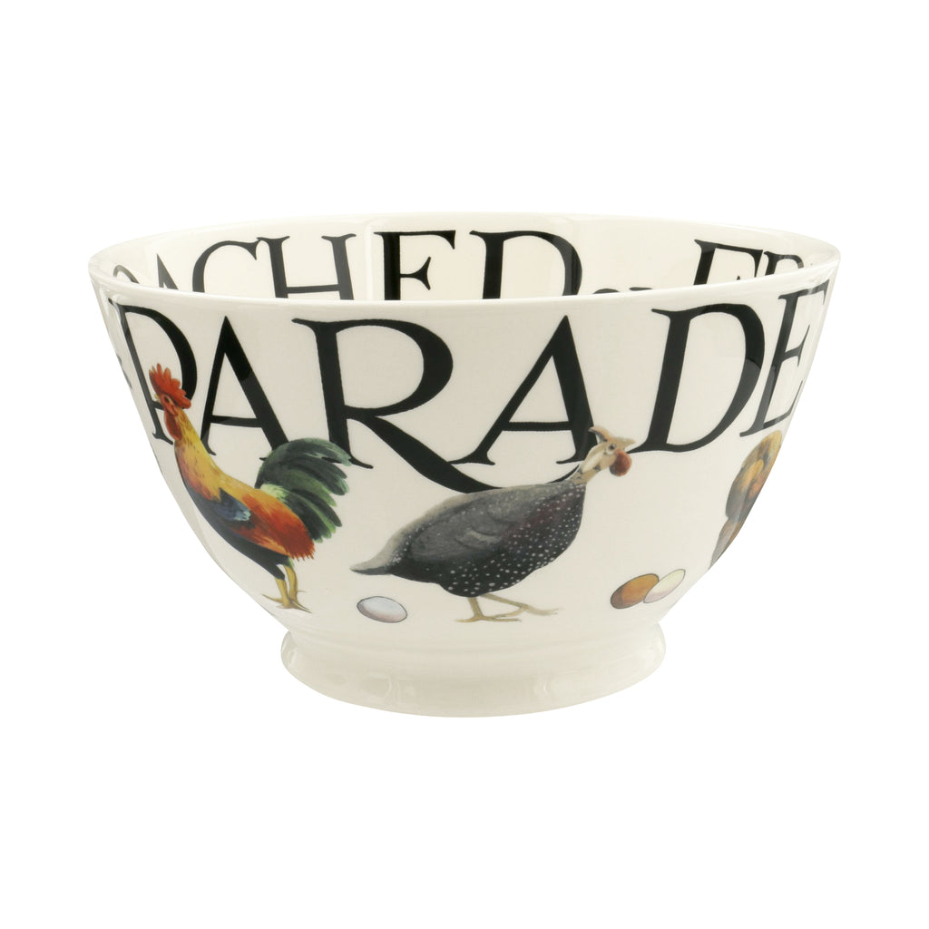 Emma Bridgewater - Rise & Shine Poultry On Parade Medium Old Bowl
