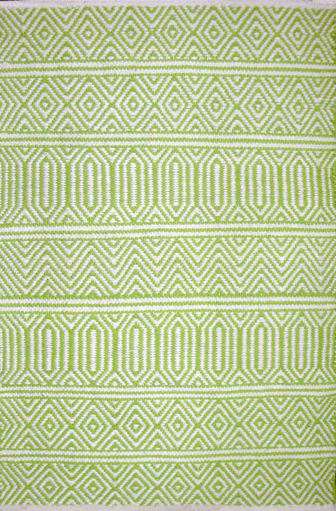 Avocado Rugs - Dhurrie - Geo Lime Green