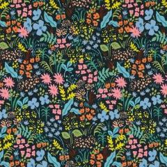 colorful navy floral