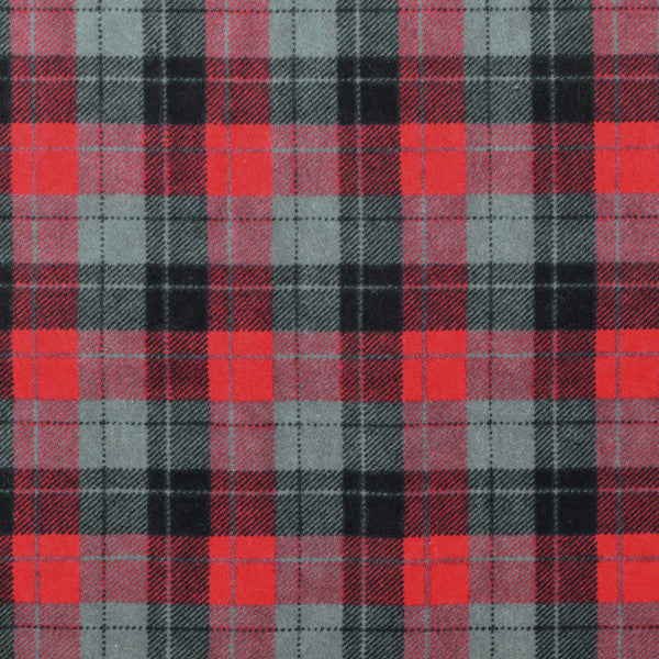 red grey black flannel plaid