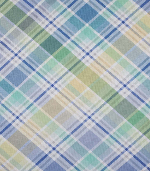 blue and green easter plaid