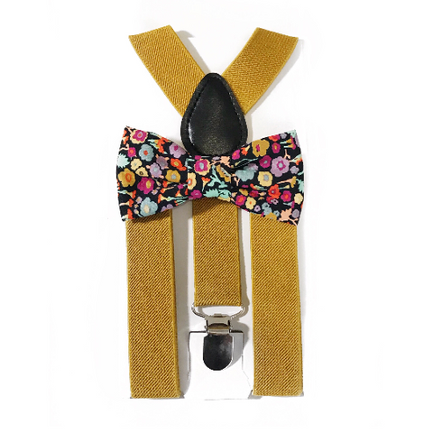 fall floral bow tie/suspender set