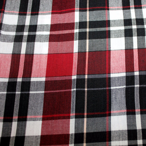 black and burgundy plaid