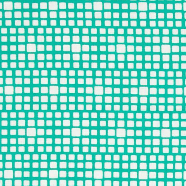 teal and white squared