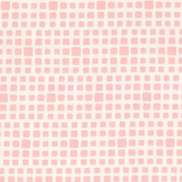 pink blush and white squared