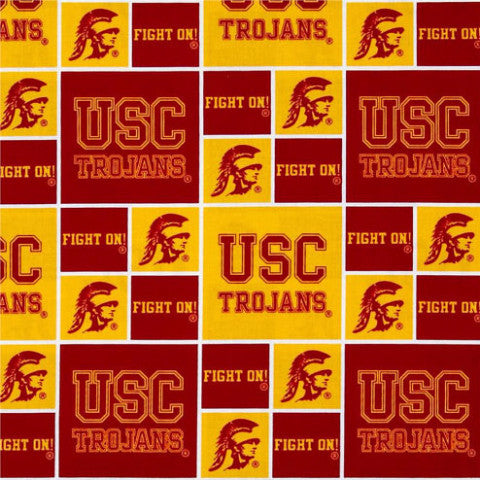 USC Trojans red and yellow