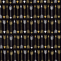 black and gold metallic arrows