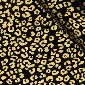 black and gold metallic animal print