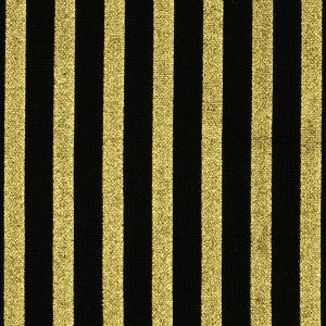 black and gold metallic stripe