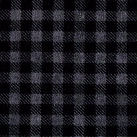 black and grey flannel plaid