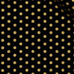 black and gold metallic pin dot