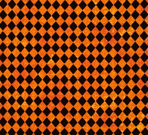 black and orange diamond
