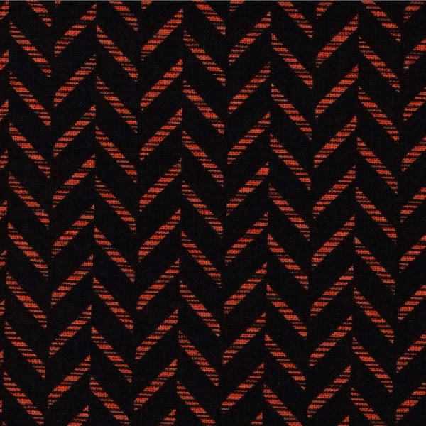 black and orange zig zag