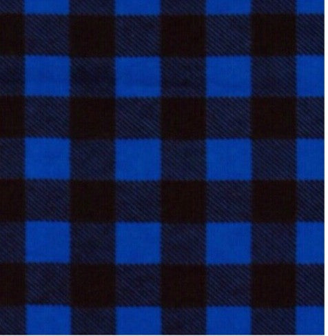 blue and black flannel plaid