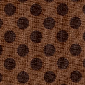brown on brown polka dot