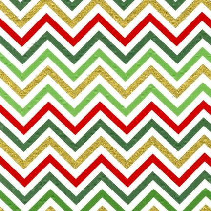 christmas metallic chevron