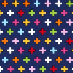 navy blue colorful swiss cross