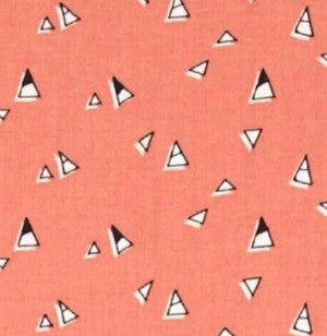 coral and black triangles