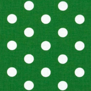 green and white polka dot