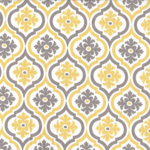 yellow and grey medallion