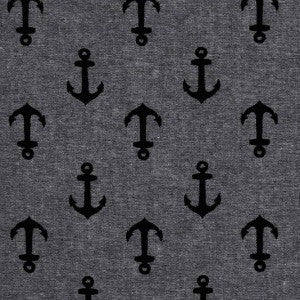 grey and black anchor