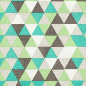grey and mint triangles