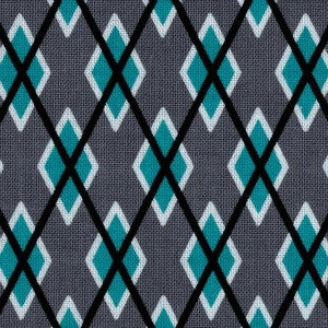 grey and teal argyle