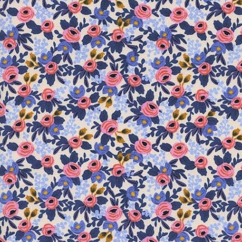 navy light and pink floral