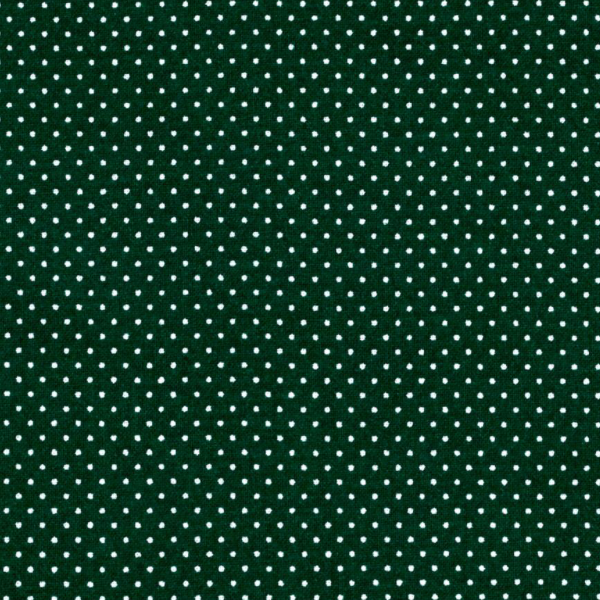 green hunter polka dot