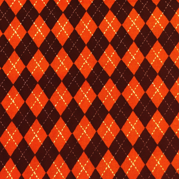 orange and black argyle