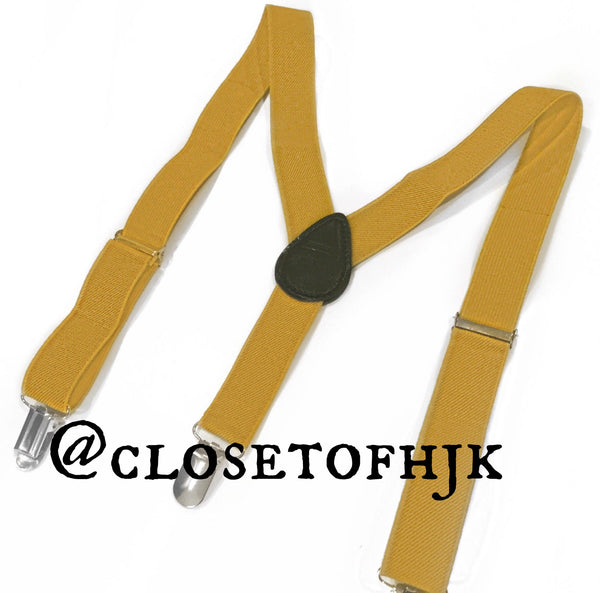 mustard yellow suspender