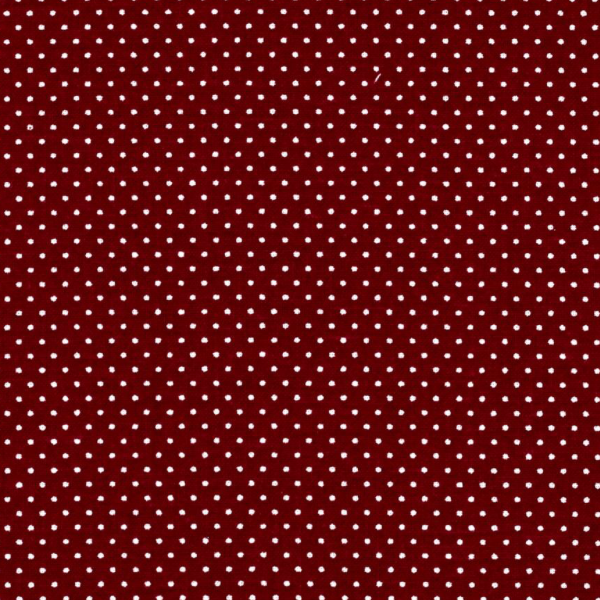 burgundy and white polka dot