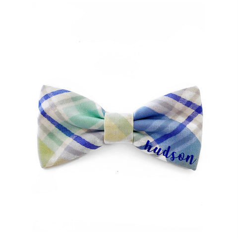 PERSONALIZED blue and green easter plaid