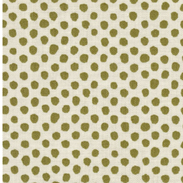 green olive polka dot
