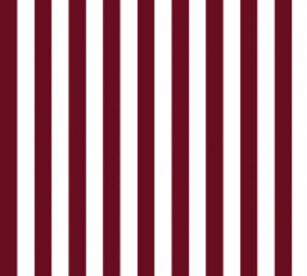 burgundy and white stripe