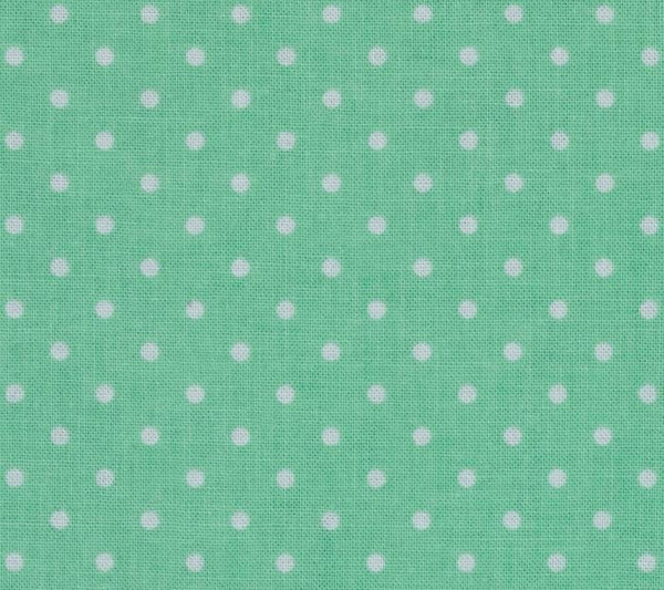 mint and white polka dot