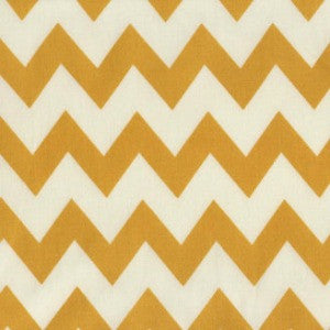 mustard and white chevron