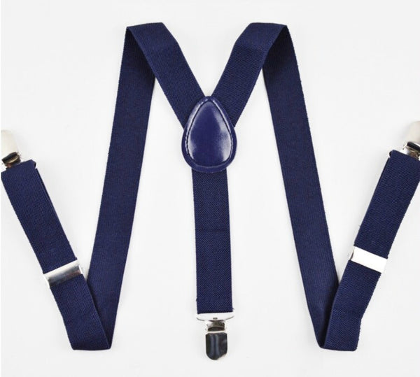 navy blue suspender
