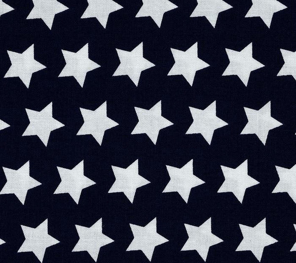 navy blue and white star