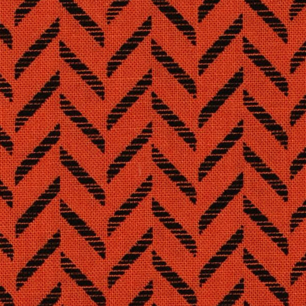 orange and black zig zag