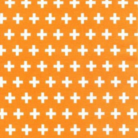 orange and white swiss cross